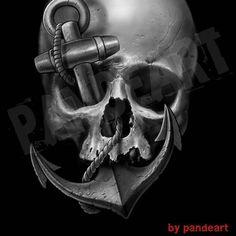 Done,.. #digitalart #digitalpainting #tshirt #skull #anchor #artcollective