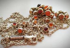 """rare pandora on Instagram: """"Ура! Я ее дождалась... :) Я держу в руках эту цепочку с гранатами, сердоликом и оранжевыми лунными. Она очень нежная. Длинная 100 см, можно…"""" Pandora Necklace, Charmed, Beads, Bracelets, Jewelry, Beading, Jewlery, Jewerly, Schmuck"""