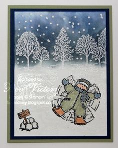 Snow Angel using Stampin Up Snow Angels