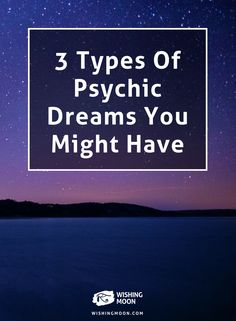 When dreaming we can access a deeper, spiritual realm, to get psychic guidance. There are three common types of psychic dreams that you might experience. Lucid Dreaming, Dreaming Of You, Psychic Dreams, Recurring Dreams, Dream Symbols, Dream Meanings, Dream Journal, Dream Interpretation