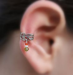 Sterling silver handcrafted leaf ear cuff by Holylandstreasures - 12.95 // this one is SOLD but there are similar ones