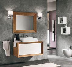 #Eban #composizione Tosca #119   su #casaebagno.it a 2125 Euro/set   #composiozioni #mobili #bagno #arredamento #design