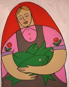 Auction item 'Woman with fish' hosted online at 32auctions.