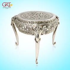 Made for those who have an for detail and a for fine art. Richly and cast, a that elevates the of its surroundings. Unique Furniture, Furniture Design, Silver Pooja Items, Puja Room, Antique Silver, Silver Jewelry, Carving, Brass, Passion