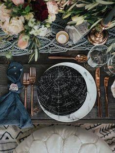 7 Stunning and Cozy Winter Wedding Ideas Galaxy Wedding, Moon Wedding, Celestial Wedding, Star Wedding, Wedding Menu, Wedding Reception, Wedding Planning, Dream Wedding, Wedding Ideas