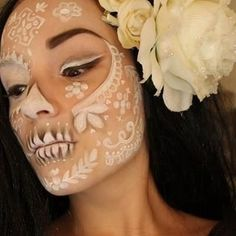 Beautiful, ethereal Dia de los Muertos make-up idea by mavis