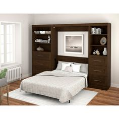 Pur by Bestar Wall Bed with Two Storage Units | Overstock.com Shopping - Big Discounts on Bestar Bedroom Sets