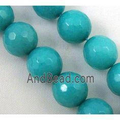 aqua Jade Beads, stability, faceted round dia, approx per st Jade Beads, Stability, Easter Eggs, Peacock, Aqua, Green, Water, Peacocks, Peafowl