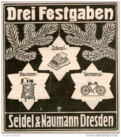 Original-Werbung/Inserat/ Anzeige 1907 - SCHREIBMASCHINEN/NÄHMASCH INEN/FAHHRÄDER-SEIDEL & NAUMANN  DRESDE ca.90 X 90 mm