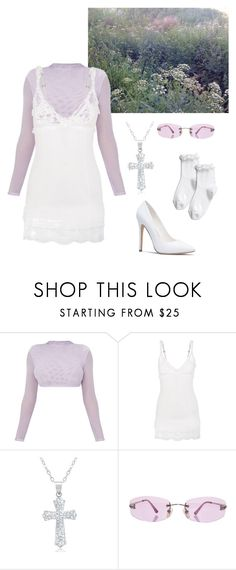 """lilac angel"" by mylavandervliet ❤ liked on Polyvore featuring Sparkle & Fade, La Perla, Amanda Rose Collection and Chanel"