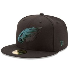 9b7b4ec17e0 30 € ... New Era Philadelphia Eagles Black Color Dim 59FIFTY Fitted Hat  Philadelphia