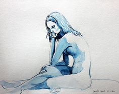Blue Nude Thoughtful