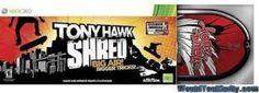 Tony Hawk Shred XBOX 360 Game and Wireless Controller by BLW. $45.00. XBOX 360 Tony Hawk Shred - Just Step on the Board and Shred! No complicated button controls to master. Just step on to SHRED Though awesome modes including Tick, Point Rush, and Challenge! Go Big- clear huge gaps, perform over-the-top tricks during massive drops, and ride out roller coaster grids! All new Snowboarding - Feel the rush as you speed down mountain peaks filled with breathtaking b...