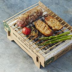 Casus_grill. Biodegradable BBQ grill.