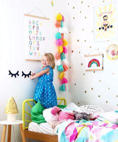 Rainbow Alphabet Chart - Kids interior design, decor and DIY