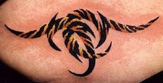 tattoos of tiger stripes | ... tribal tattoo done on the skin in tiger stripes looking awesome