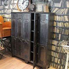 French Five Door Industrial Locker