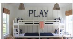 Beach house loft bunk beds