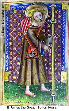 St James the Great dressed as a religious pilgrim