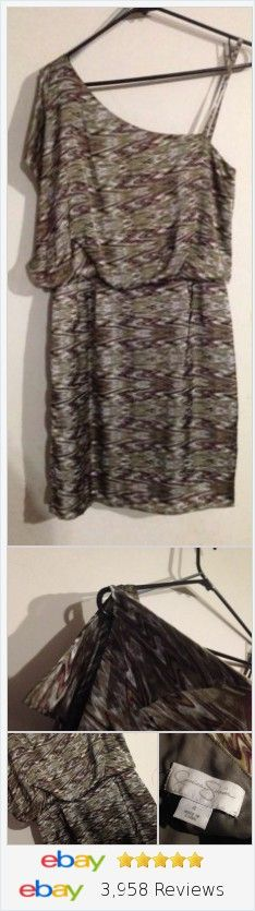 Jessica Simpson Swirl Metallic Off The Shoulder Dress Size 6  | eBay #jessicasimpson #dress #taupe #summerfashion #nyfashionweek