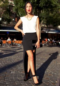 white-top-with-high-low-skirt