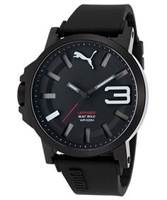 Women's Wrist Watches - Puma Ultrasize 50 Watch Black  White -- Details can be found by clicking on the image. (This is an Amazon affiliate link)