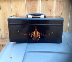 Pinstriped tool box
