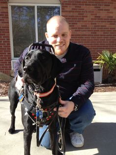 Meet Cpl Chris Owens, USMC and his rescued service dog Samaria, trained by Canines for Service. This match was meant to be.