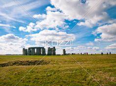 a distant shot of stonehenge - Stonehenge shot from afar.