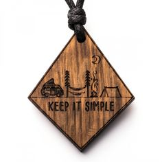 Keep it simple - Camper - 3in1_diy_schmuck Holzschmuck aus Naturholz / Anhänger Engraving Ideas, Laser Engraving, Keep It Simple, Bottle Opener, Camper, Pasta, Decor, Diy Jewelry Necklace, Handmade