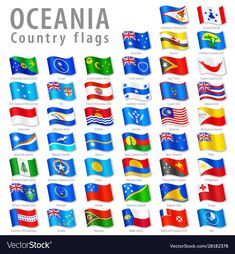 Vector Oceanian National Flag Set Stock Vector - Illustration of guinea, country: 38894811 Flyer Design, Icon Design, Free Vector Images, Vector Free, Disney Princess Memes, Cocos Island, All Flags, Easter Island, National Flag