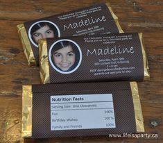 For my final post on the Chocolate Party, I thought I'd share the fun printables with you, just in case you're planning your own chocolate themed celebration. When we finally decided on the chocola...