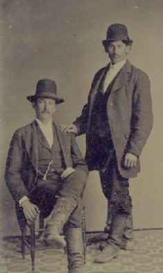 Jim Bonnell and Rube Hardenbergh -- Sullivan County, NY, about 1900