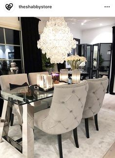 Trendy 16 Beegcom Best Wood For Home Furniture In India, Best Interior Design Software Os X Dining Room Table Decor, Elegant Dining Room, Luxury Dining Room, Dining Room Design, Living Room Decor, Luxury Chairs, Home Decor Online, Home Decor Shops, Home Decor Trends