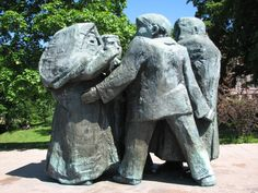 The statue of friendship between Leningrad and Turku by Antti Louhisto is a located in Puolalanpuisto park in Turku, Finland. It was erected 1967-1968 and revealed on May 19, 1969.