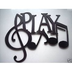 Play Word with Notes Metal Wall Art Music Decor by sayitallonthewall on Etsy Sound Of Music, Music Is Life, Karel Gott, Band Rooms, Diy Vintage, Metal Wall Art Decor, Music Wall Decor, Metal Walls, Art Music