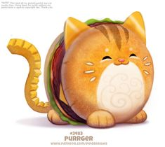 Daily Paint Purrger by Cryptid-Creations on DeviantArt Cute Kawaii Animals, Cute Animal Drawings Kawaii, Kawaii Art, Cute Funny Animals, Cute Baby Animals, Cute Fantasy Creatures, Mythical Creatures Art, Cute Creatures, Animal Puns