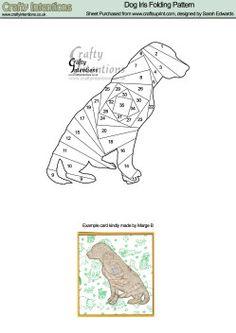 Home : Iris Folding : Animals : Sitting Dog Iris Folding Pattern