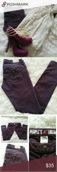 "SALE Purple Peoples Liberation Premium Denim Awesome Purple Peoples Liberation Premium Denim Skinny 33"" Inseam 99"" Inseam 1% Spandex People's Liberation  Jeans Skinny"