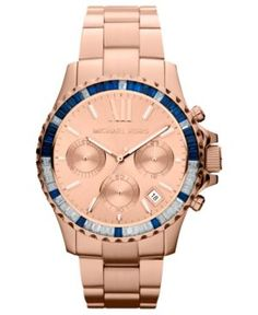 Michael Kors Watch, Women's Chronograph Rose Gold ( la prochaine sera celle ci ) tr tr tr chic ce rose gold