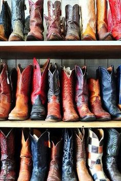 I want a closet of cowgirl boots:)