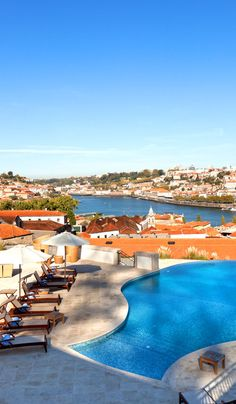 Current Average Temperatures: England 18 C / Portugal 35 C, The Yeatman Wine & Port Hotel in Porto Hotels Portugal, Porto Portugal, Fc Porto, Spain And Portugal, Portugal Travel, Beautiful Places In The World, Places Around The World, Oh The Places You'll Go, Places To Travel