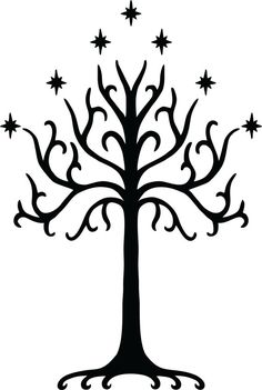 Tree of Gondor Wall Decal  FREE SHIPPING via Etsy