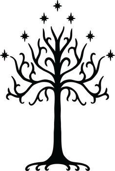 Tree of Gondor Wall Decal  FREE SHIPPING via Etsy