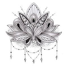 Resultado de imagem para flor de lotus tattoo