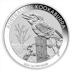 2016 1 oz Silver Australian Kookaburra Fine BU In Capsule in Coins & Paper Money, Bullion, Silver, Coins