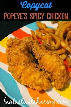 Copycat recipes for popeyes chicken - Food chicken recipes Chicken Tender Recipes, Fried Chicken Recipes, Popeyes Spicy Chicken Tenders Recipe, Fried Chicken Batter, Popeyes Fried Chicken, Fried Chicken Tenders, Crispy Chicken, Gastronomia, Chicken
