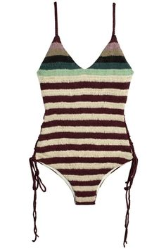 06d28a3be06 SALE 60% OFF Mara Hoffman Swim - Stripe Crochet One Piece | BONA DRAG  Biquini
