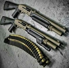 Check out these awesome tactical shotguns! Military Weapons, Weapons Guns, Guns And Ammo, Airsoft, Combat Shotgun, Tactical Shotgun, Fire Powers, Custom Guns, Cool Guns