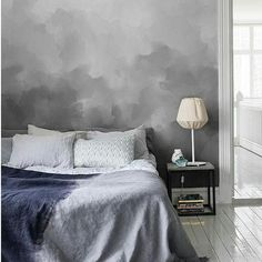 Mr Perswall #wallpaper - could you dry brush this with #paint? #bedroom #moody #grey #walls #floors #decor #home #design